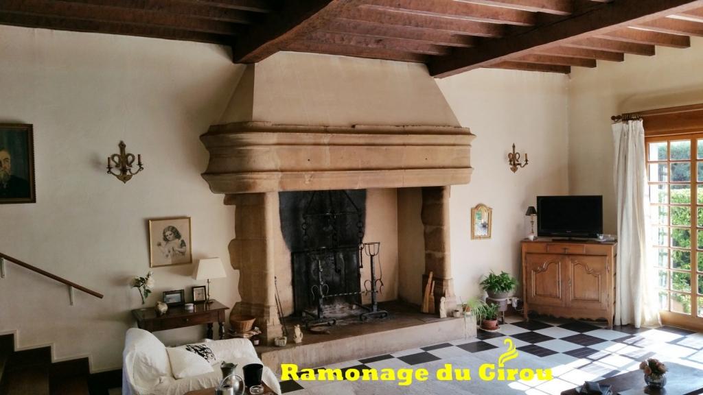 ramonage du girou-cheminée ancienne