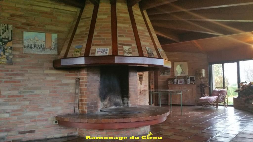 cheminée arrondie